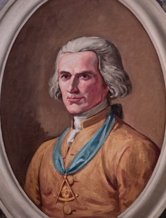 Joseph Montfort - Joseph Montfort, reproduced Portrait, in the Grand Lodge of North Carolina