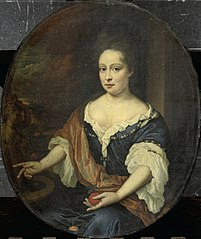 Portrait of Judith Allijn (died 1702), Wife of Harmen Lijnslager