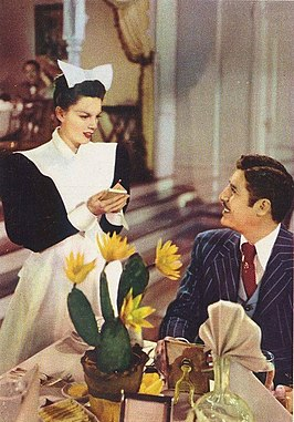 Judy Garland en John Hodiak in The Harvey Girls