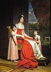 Julie Bonaparte als koningin van Spanje met haar dochters Zénaïde en Charlotte