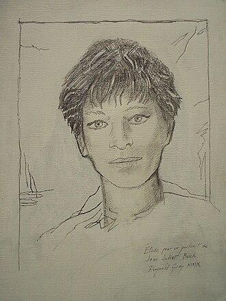 Joan Juliet Buck - Study for a portrait of Buck by Reginald Gray, Paris 1980s (graphite on canvas)