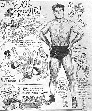 Dropkick - Jumping Joe Savoldi publicity article in 1933
