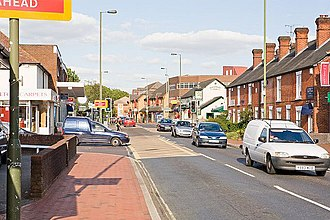 Chandler's Ford - Image: Junction of Winchester Road and Brownhill Road, Chandler's Ford geograph.org.uk 555141