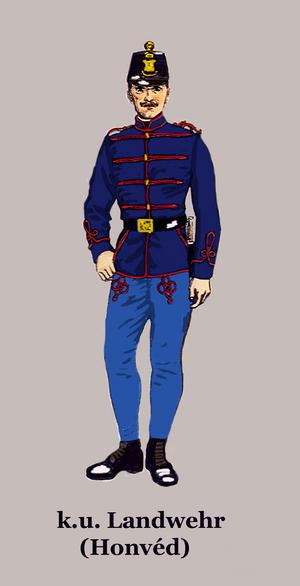 Royal Hungarian Honvéd - Soldier of the Royal Hungarian Honvéd in parade dress