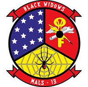 Marine Aviation Logistics Squadron 13 - Image: K01mq 2 webinsigniablkwidows