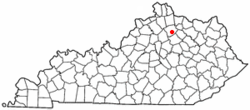 Location in the Commonwealth of Kentucky