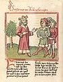 Kaiser Friedrich I Barbarossa mit drei Untertanen.jpg