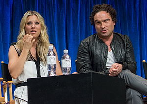 Leonard Hofstadter - Kaley Cuoco (who portrays Penny) and Johnny Galecki at PaleyFest 2013