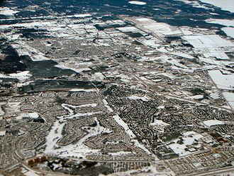 Kanata, Ontario - Aerial view of North Kanata, January 2007