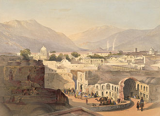 Kabul Expedition (1842) - A sketch of Kandahar, in December 1841