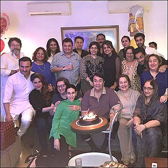 Kapoor family - Image: Kapoor family on Randir's birthday