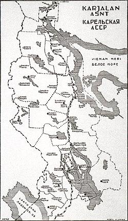 Vị trí của Cộng hòa Karelia