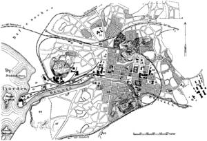 Karta, tidigt 1900-tal.