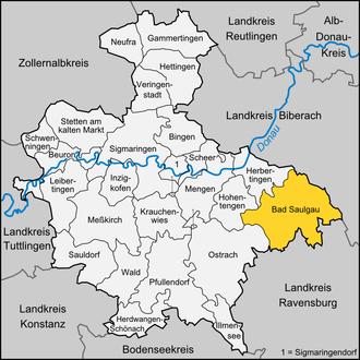 Bad Saulgau - Image: Karte Bad Saulgau
