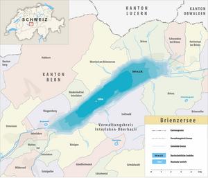 Karte Brienzersee 2015