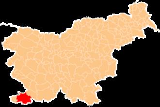 City Municipality of Koper - Image: Karte Koper si