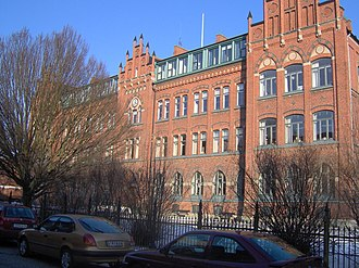 Lund - One of the buildings of Katedralskolan, Lund Cathedral school.