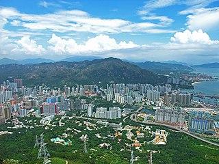 Tuen Mun District District in Hong Kong, China
