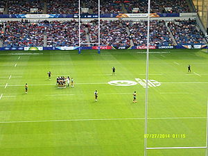 Rugby union in the Cook Islands - Kenya playing the Cook Islands at the 2014 Commonwealth Games.
