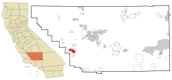 Kern County California Incorporated and Unincorporated areas Taft Highlighted.svg