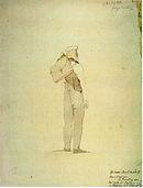 Georg Friedrich Kersting: Caspar David Friedrich auf der Wanderung im Riesengebirge, 1810 (Quelle: Wikimedia)