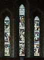 Kildare Cathedral Nave West Window Saints Patrick, Brigid, and Columba 2013 09 04.jpg