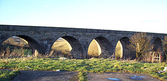 Lanarkshire and Ayrshire Railway - The viaduct to the north of Kilwinning in 2006