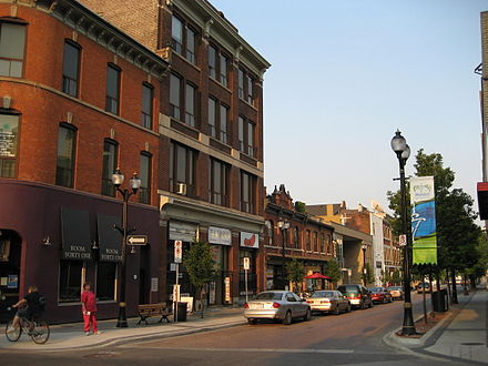 View of King William Street. Several areas in the downtown core saw growth as a centre for art. KingWilliamHamiltonC.JPG