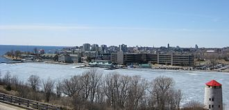 Kingston, Ontario - Kingston City Skyline from Fort Henry Hill
