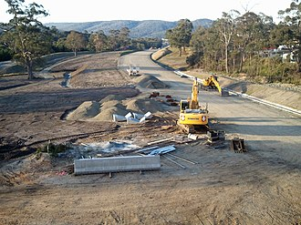 Kingston Bypass - Kingston Bypass construction site