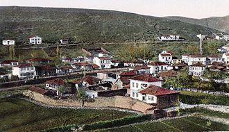Kočani - Postcard of Kočani, from 1930's