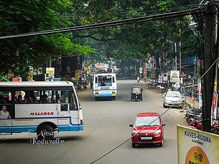 Koduvally Town in Kerala, India