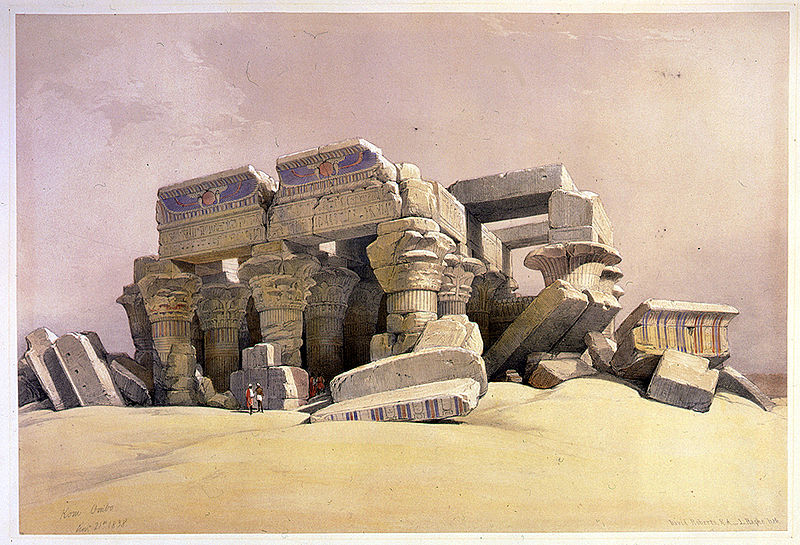 File:Kom Ombo Nov 16th 1838-David Roberts.jpg