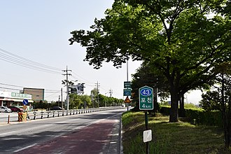 National Route 43 (South Korea) - National Route 43 nearby Pocheon