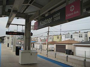 Kostner station (CTA Pink Line) - Image: Kostner CTA Pink Line