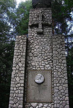 Battle of Krzykawka - Monument to Francesco Nullo in Krzykawka
