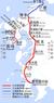 Kyushu Shinkansen map Kagoshima route and Nagasaki route.png