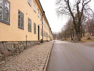 Hotel Skeppsholmen - Långa raden, seen before the hotel conversion