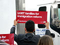 LGBT Activists in Doral Protest U.S. Sen. Marco Rubio After Gay Couples Left Out of Immigration Plan 8 (8805310886).jpg
