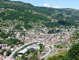 The centre of La Bresse, seen from the Roche du Daval