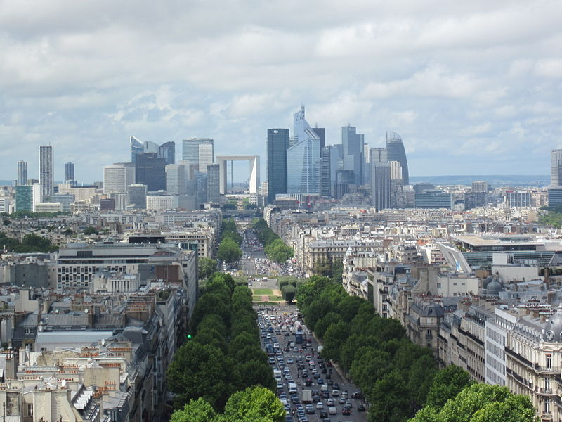 File:La Défense from Arc de Triomphe.jpg
