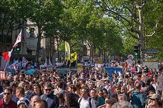 Protests against Emmanuel Macron - Image: La Fête à Macron, 5 mai 2018 — 80