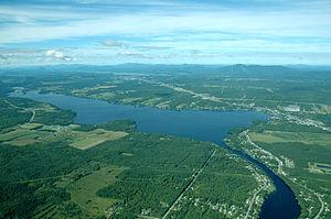 Lake Magog - Aerial view of Lake Magog