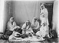 Ladies of the royal harem enjoying an Afghan meal. Wellcome L0028378.jpg
