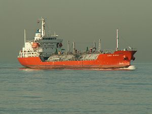 Lady Elena approaching Port of Rotterdam, Holland 24-Jan-2006.jpg
