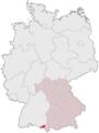 Lage des Landkreises Lindau (Bodensee) in Deutschland.PNG