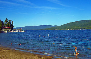 Adirondack Mountains - Lake George, one of numerous oligotrophic lakes in the Adirondack region, is nicknamed the Queen of American Lakes.