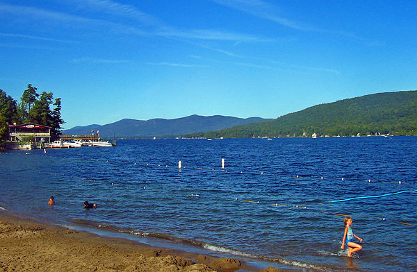 Lake George, New York, United States, an oligotrophic lake Lake George from village beach.jpg