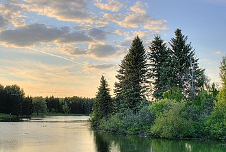 William Hawrelak - View of the lake in Hawrelak Park, Edmonton.