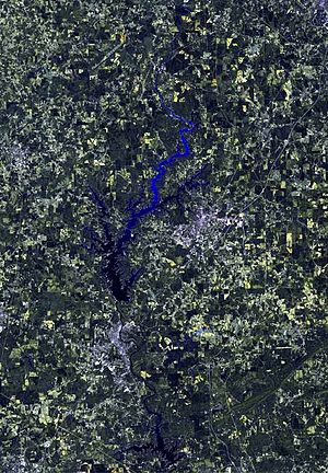 West Point Lake - Satellite image